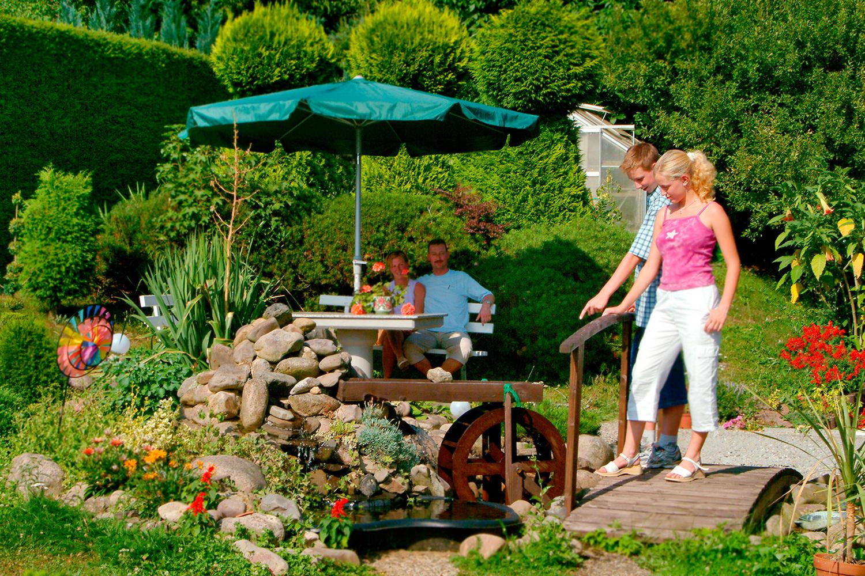 Garten der Monteurwohnung Schönfelder